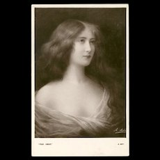 Early 1900's Postcard by E.W. Savory - Beautiful Women Series - 2 of 5 - Red Tag Sale Item