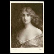 Early 1900's Postcard by E.W. Savory - Beautiful Women Series - 4 of 5
