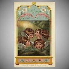 Heads of Angels by Sir Joshua Reynolds - 1907 Postcard Ullman Mfg Company