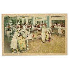 Advertising Postcard of Kellogg's Packing Plant