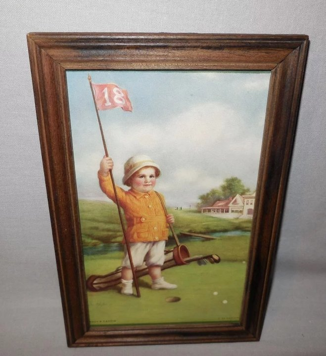 Zula Kenyon Vintage Print of Daddy's Caddie - Golf Course
