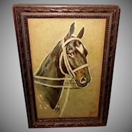 Embossed Magic Light Hand Painted Horse - Iris Halsey Lumia Glow in Dark
