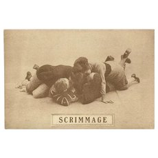 Sepia Romantic Football Postcard Early 1900's - Scrimmage - 5 of 8