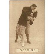 Sepia Romantic Football Postcard Early 1900's - Scoring - 8 of 8