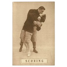 Sepia Romantic Football Postcard Early 1900's - Scoring - 8 of 8