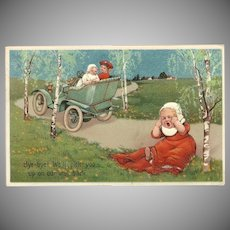 PFB Embossed 1907 Postcard of Baby Left Behind
