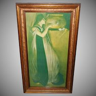 John White Alexander Vintage Print of Isabella and Pot of Basil