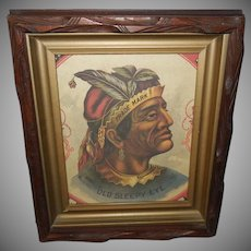 Advertising Print of Indian Chief Old Sleepy Eye Trade Mark Flour