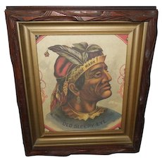Advertising Print of Indian Chief Old Sleepy Eye Trade Mark Flour
