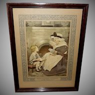 Jessie Willcox Smith Print of David Copperfield and Peggotty