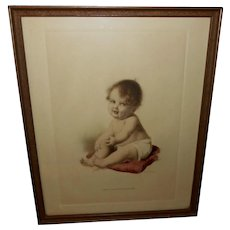 M. Greiner Tinted Print of Baby - Just a Little Sunshine