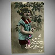 Glossy Tinted Christmas Photo Postcard