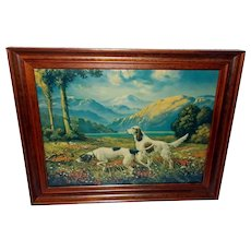 R. Atkinson Fox Vintage Print of Two Dogs in Hunters Paradise