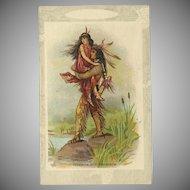 Vintage Postcard of Hiawatha and Minnehaha Near Water