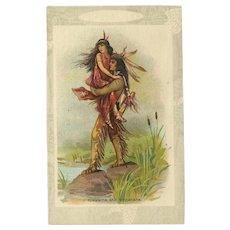 Vintage Postcard of Indians Hiawatha and Minnehaha