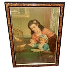 Chromolithograph by George Stinson of Household Pets