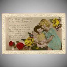 Rotary Photograph British Postcard Happy Birthday Cousin