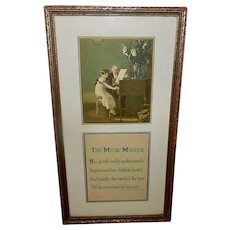 Morris and Bendien NY 1915 The Music Master - First Piano Lesson