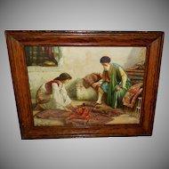 Francesco Ballesio Orientalist Print of Persian Carpet Dealer