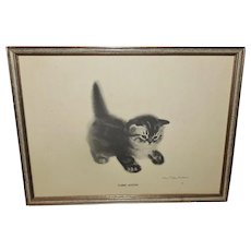 Tabby Kitten Vintage Print by Clare Turlay Newberry