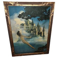 Maxfield Parrish Vintage Print of The Dinkey-Bird in Two Tone Frame