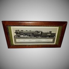 Photograph of Santa Fe Train in Wood Frame
