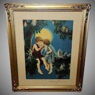 Bertram Basabe Vintage Print of Budding Romance