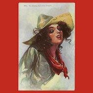 Cowgirl Postcard Copyright 1910 by H.H. Tammen