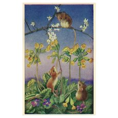 Three Mouse Postcard by Heda Armour The Medici Society