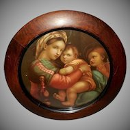 Vintage Print of Madonna of the Chair by Raphael