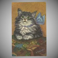 M. Babington Cat in Blue Bow by Mainzer