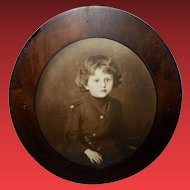 Sepia Print of Young Child by Walter Russell 1904