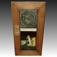 Ullman 1906 Hello Papa Print in Iconographic Frame with Telephone