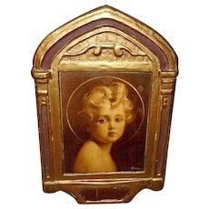 Gesso Duro Plaque Regal Art Company - Jesus Light of the World