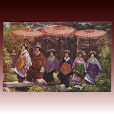 Raphael Tuck Oilette Postcard of Geisha Women