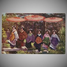 Raphael Tuck Oilette Postcard of Geisha Women