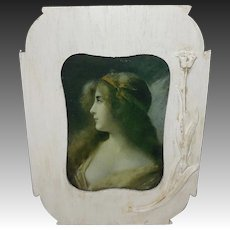 Small Vintage Angelo Asti Lady Print in Embellished Frame