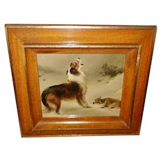 Vintage Print of Found by Walter Hunt - Dog and Lamb