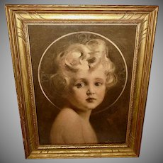 C. Bosseron Chambers Vintage Print of Young Jesus