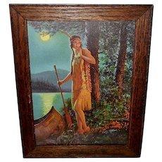 Edward Eggleston Vintage Print of Indian Maiden