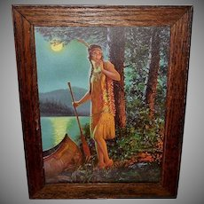 Edward Eggleston Vintage Print of Indian Maiden