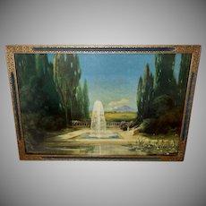 R. Atkinson Fox Vintage Print of Fountain of Love
