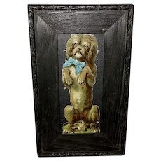 Small Chromolithograph Die Cut of Dog