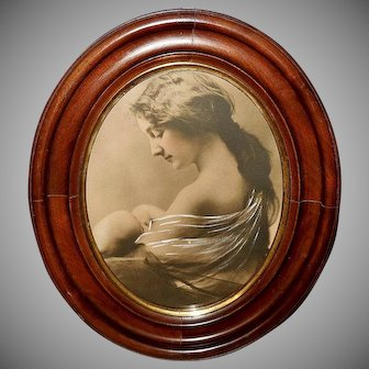 Enhanced Sepia Photo Print of Mother and Child