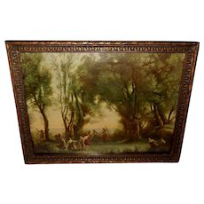 Vintage Textured Print of Dance of the Nymphs by Corot