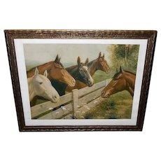 R. Atkinson Fox Vintage Print of Thoroughbred Horses