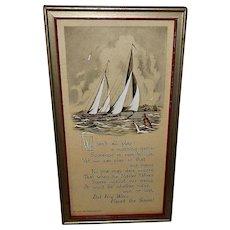 Buzza Motto Print with Ships