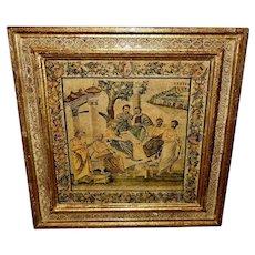 Italian Florentine Depiction of Mosaic of Pompeii Plato's Circle