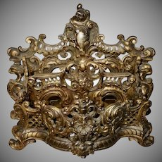 Ornate Bradley and Hubbard Metal Letter Holder 3578