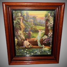 Hy Whitroy Vintage Calendar Print of Classical Style Garden of Youth